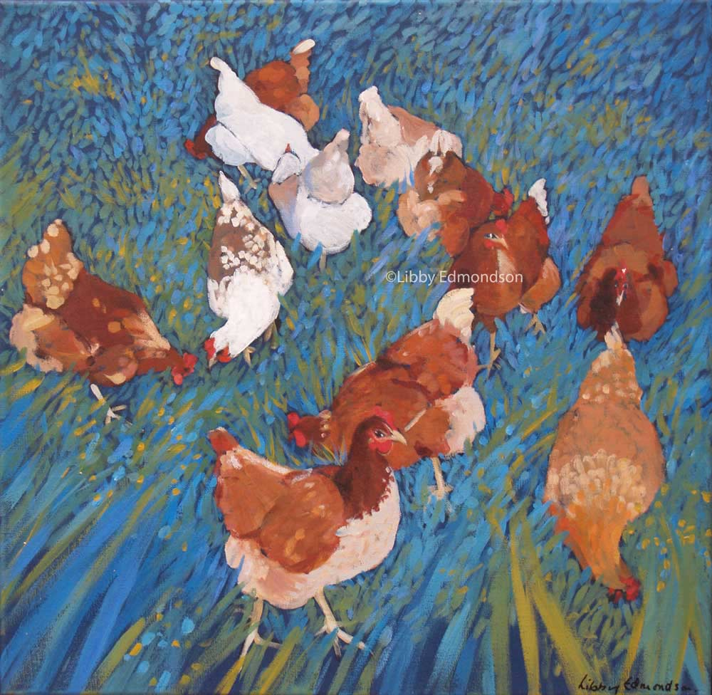 113.A Few Hens