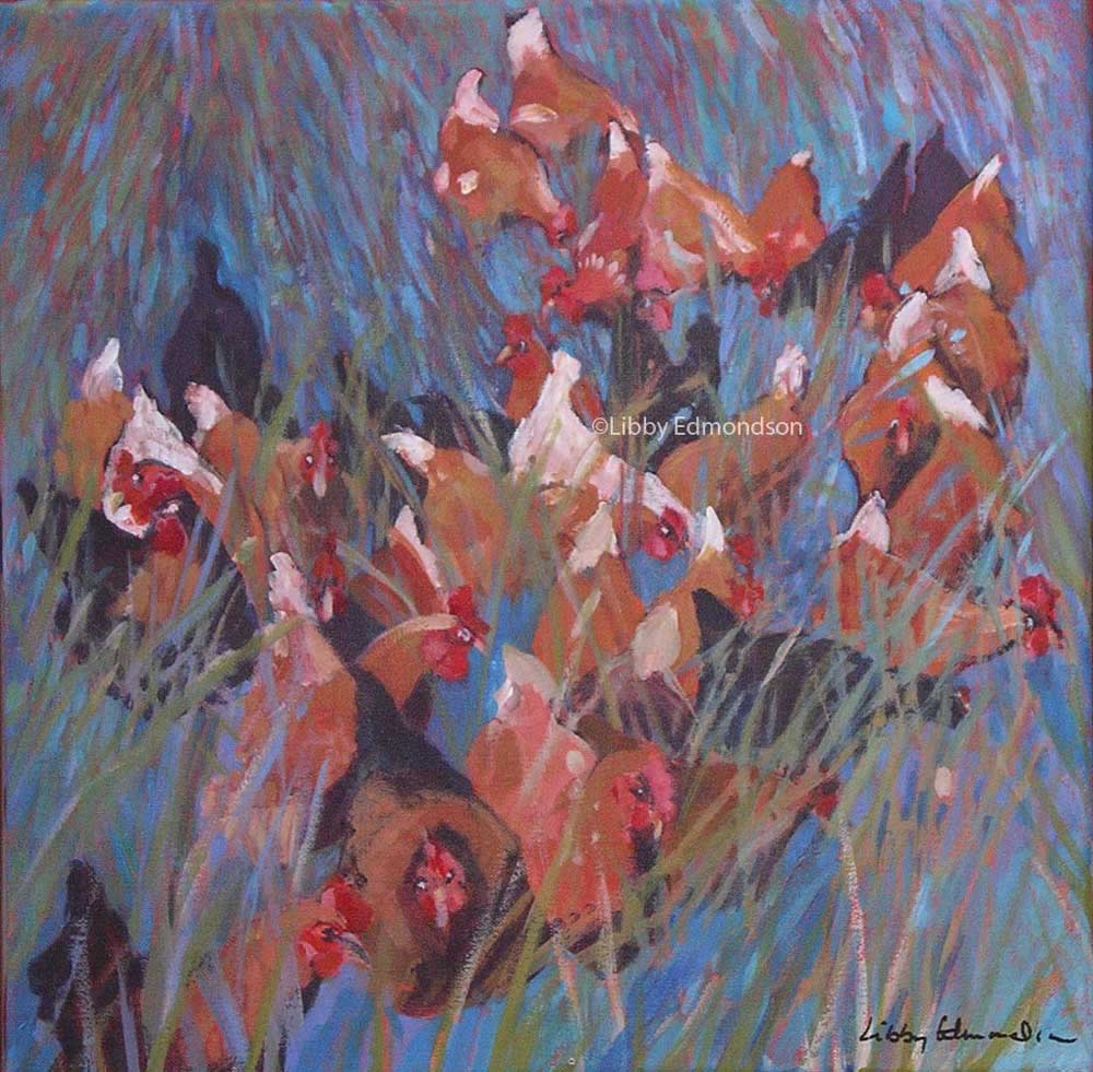 72. Hens at Low Sizergh II