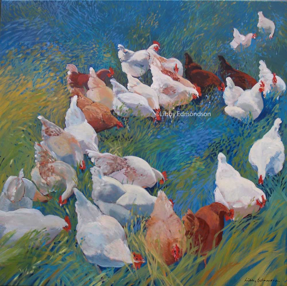 76. Hens at Low Sizergh IV